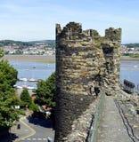 Pared de la ciudad de Conwy imagen de archivo
