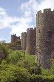 Pared de la ciudad de Conwy Foto de archivo