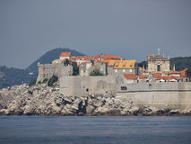 Pared de la ciudad de Dubrovnik Imagenes de archivo