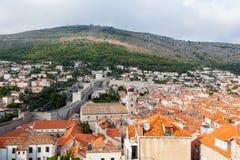 Pared de la ciudad de Dubrovnik, Croacia Foto de archivo libre de regalías