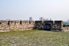 Pared de la ciudad de Nanjing en la dinastía de Ming Fotografía de archivo libre de regalías