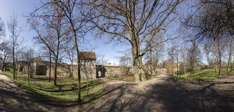 Pared de la ciudad de Neubrandenburg, Mecklenburg, Alemania Fotografía de archivo libre de regalías