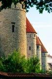 Pared de la ciudad de Tallinn, Estonia Imagen de archivo libre de regalías