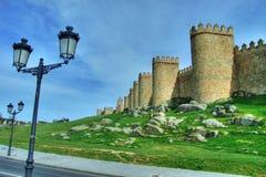 Pared de la ciudad de Ávila Foto de archivo libre de regalías
