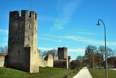 Pared de la ciudad de Visby Imagen de archivo