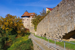 Pared de la ciudad en Bautzen, Lusatia superior Imagenes de archivo