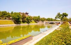 pared de la ciudad en Xian Fotos de archivo libres de regalías