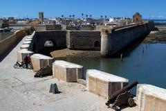 Pared de la defensa del jadida del EL, Marruecos Imagen de archivo libre de regalías