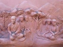 Pared de la escultura de arcilla Fotos de archivo