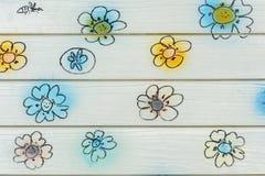 Pared de la flor fotografía de archivo