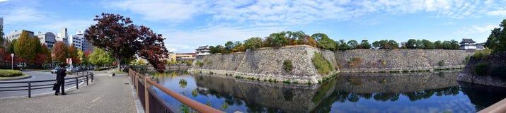 Pared de la fortaleza de Osaka Castle Fotografía de archivo
