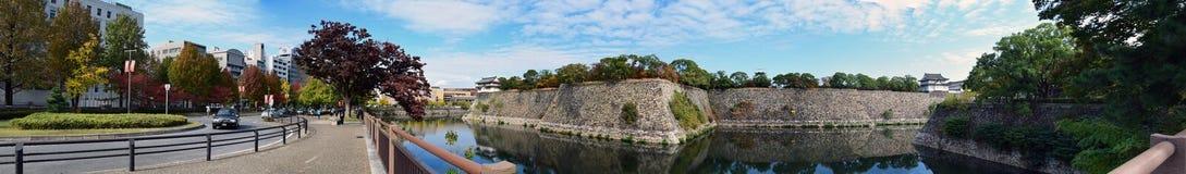 Pared de la fortaleza de Osaka Castle Fotografía de archivo libre de regalías