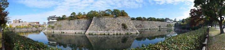 Pared de la fortaleza de Osaka Castle Imagenes de archivo