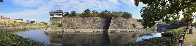 Pared de la fortaleza de Osaka Castle Foto de archivo