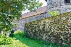 Pared de la fortaleza Racos, Rumania fotos de archivo libres de regalías