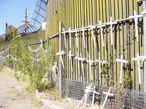 Pared de la frontera de Nosotros-México Imagen de archivo