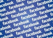 Pared de la insignia de Facebook Imágenes de archivo libres de regalías