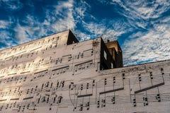 Pared de la música Foto de archivo libre de regalías