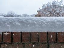 Pared de la maravilla del invierno fotos de archivo libres de regalías