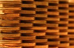 Pared de la moneda Imagen de archivo libre de regalías