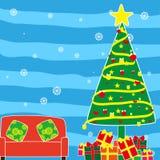 Pared de la Navidad Imágenes de archivo libres de regalías