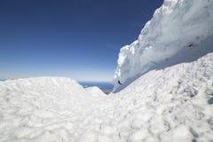 Pared de la nieve Imagen de archivo libre de regalías