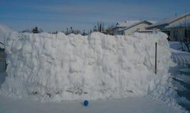 Pared de la nieve de Canadá seis pies de alto Foto de archivo