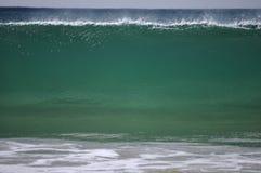 Pared de la onda verde Imagen de archivo libre de regalías