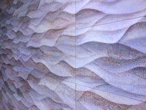 Pared de la perspectiva con textura ondulada Foto de archivo libre de regalías