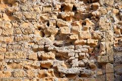 Pared de la piedra arenisca Imagen de archivo libre de regalías