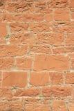Pared de la piedra arenisca roja Fotos de archivo libres de regalías