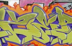 Pared de la pintada Imagen de archivo libre de regalías
