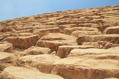 Pared de la pirámide egipcia Fotos de archivo libres de regalías