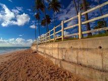 Pared de la playa foto de archivo libre de regalías