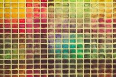 Pared de la pluralidad de cuadrados coloreados Foto de archivo