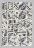 Pared de la polaroid del dinero Imagenes de archivo