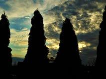 Pared de la puesta del sol Foto de archivo libre de regalías