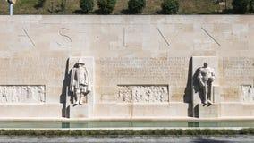 Pared de la reforma en Ginebra Imagenes de archivo