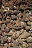 Pared de la roca de la lava Imágenes de archivo libres de regalías