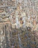 Pared de la roca de la presa centenaria Imágenes de archivo libres de regalías
