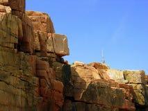Pared de la roca y del cielo Imagen de archivo libre de regalías