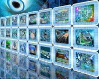 Pared de la tecnología Imagen de archivo libre de regalías
