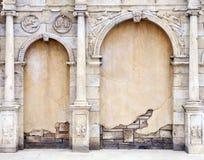 Pared de la vendimia en el estilo romano Foto de archivo libre de regalías