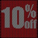 Pared de la venta hecha de pequeñas ventas rojas stock de ilustración