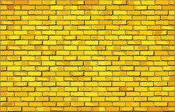 Pared de ladrillo amarilla Foto de archivo libre de regalías