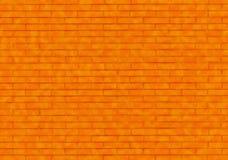 Pared de ladrillo anaranjada Foto de archivo libre de regalías
