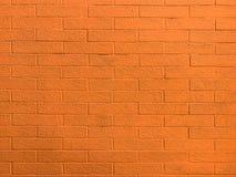 Pared de ladrillo anaranjada fotografía de archivo libre de regalías