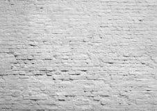 Pared de ladrillo blanca Foto de archivo libre de regalías