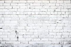 Pared de ladrillo blanca Foto de archivo