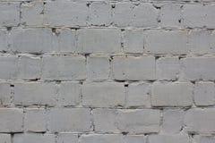 Pared de ladrillo blanca Imagen de archivo libre de regalías